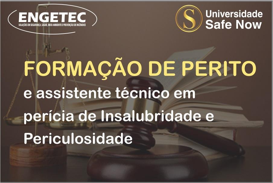 Curso - Formação de perito e assistente técnico em perícias de insalubridade e periculosidade